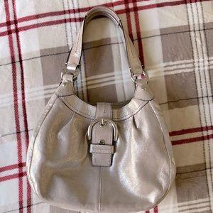 Coach F15075 Lynn Soho Metallic Shimmer Handbag